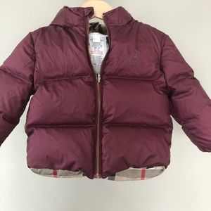 Other - Burberry baby puffer coat